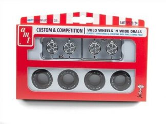 AMT WILD WHEELS & WIDE OVALS PARTS PACK 1/25