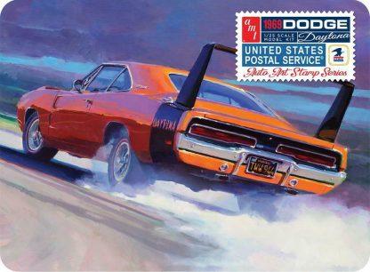 AMT 1969 DODGE CHARGER DAYTONA USPS STAMP COLLECTOR 1:25 Model Kit AMT1232