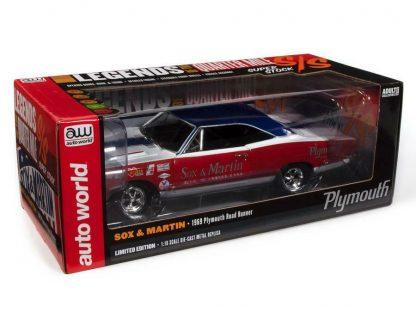 Auto World SOX & MARTIN 1969 PLYMOUTH RR (LOTQM)